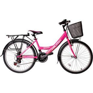 """24"""" Zoll Fahrrad City Bike Mädchen Fahrrad Kinderfahrrad 21 Gang RH ca.45 cm STVO... Roze - Bild 1"""