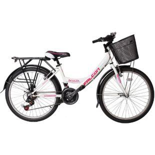 """26"""" Zoll Fahrrad City Bike Mädchen Fahrrad Kinderfahrrad 21 Gang RH ca.45 cm STVO... weiß - Bild 1"""