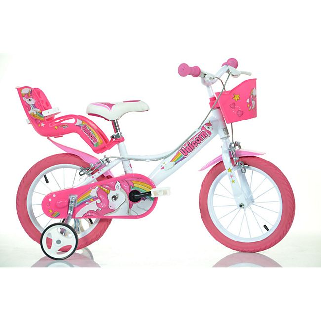 14 Zoll Unicorn Einhorn Kinderfahrrad Kinderrad Fahrrad Spielrad Kinder- Fahrrad - Bild 1