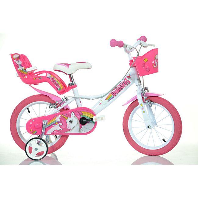 "16 Zoll Unicorn Einhorn Kinderfahrrad Kinderrad Fahrrad Spielrad Kinder 16"" Fahrrad - Bild 1"