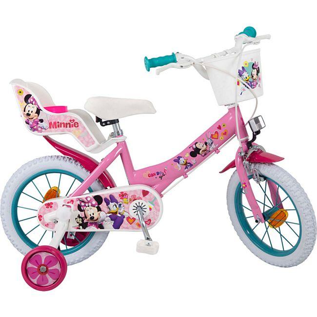 14 Zoll Kinder Kinderfahrrad Mädchenfahrrad Fahrrad Rad Disney Minnie Mouse - Bild 1
