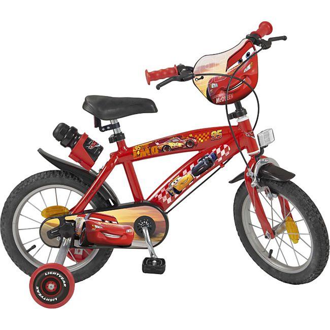 14 Zoll Kinder Kinderfahrrad Mädchenfahrrad Fahrrad Rad Disney Cars Mc Queen - Bild 1
