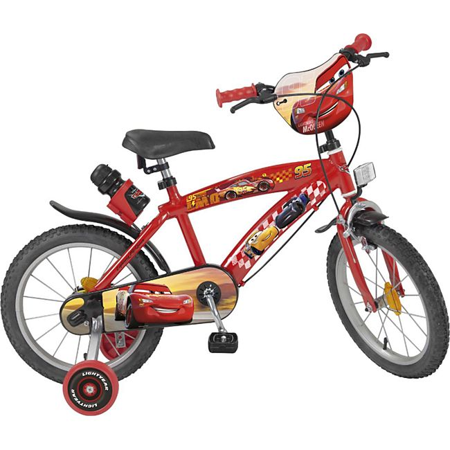 16 Zoll Kinder Kinderfahrrad Mädchenfahrrad Fahrrad Rad Disney Cars Mc Queen - Bild 1