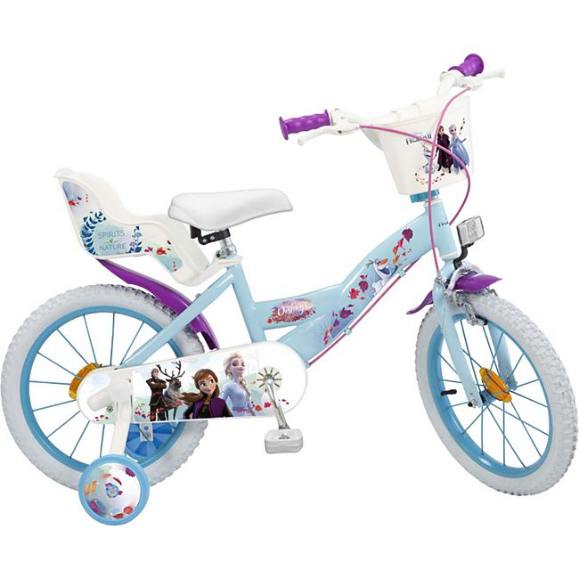 16 Zoll Kinder Kinderfahrrad Mädchenfahrrad Fahrrad Rad Frozen Disney Eiskönigin - Bild 1