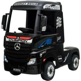Kinder Elektro Auto Mercedes LKW Actros 4x4 35W LKW  EVA Leder... Schwarz - Bild 1