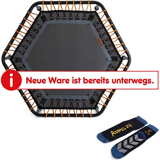 Fitness Mini-Trampolin, hexagonal, 6-fach verstellbar - Bild 1