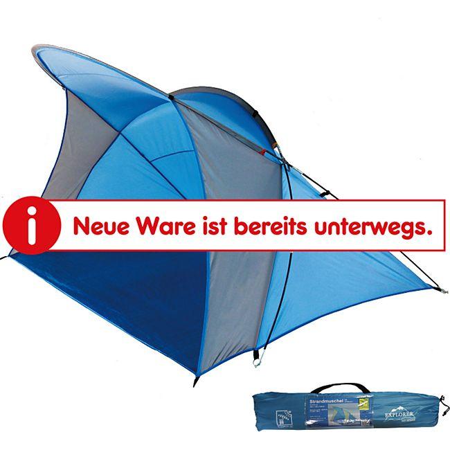 EXPLORER Strandmuschel XXL Sonnenschutz Kinder Strandzelt Wind Schutz groß UV 80 - Bild 1