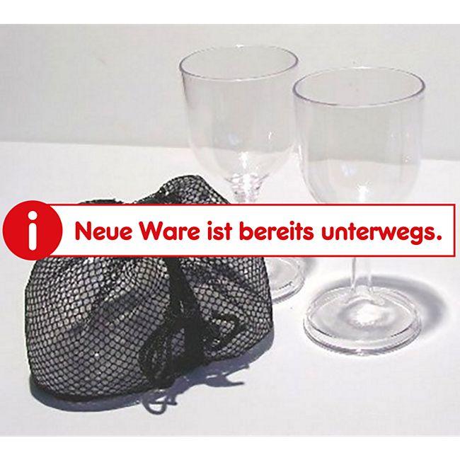 GRAND CANYON 2er Set Weiß Wein Gläser Polycarbonat Camping Trink Glas bruchfest - Bild 1