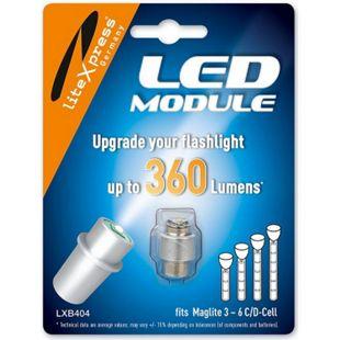 LITEXPRESS LED Upgrade Modul 360 Lumen für 3-6 C/D Maglite Taschenlampe LXB 404 - Bild 1