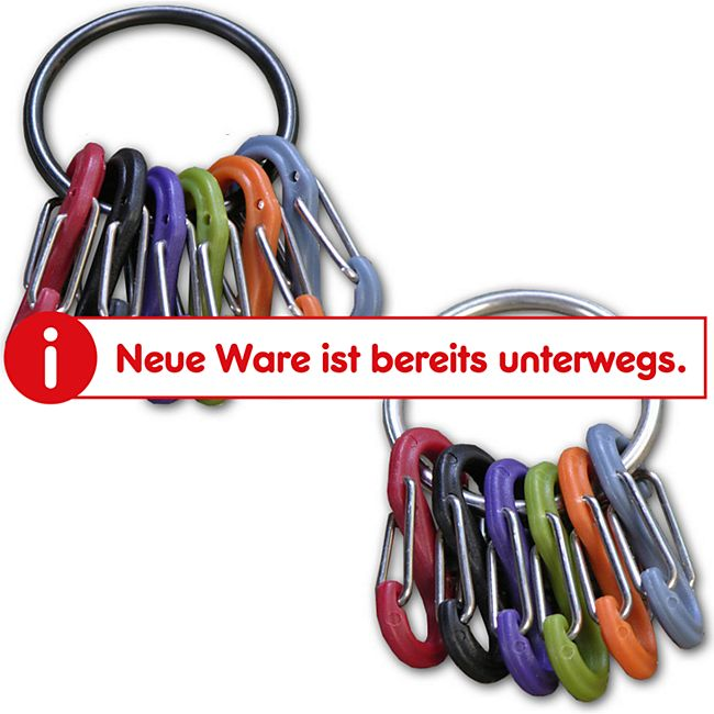 NITE IZE S-Biner Keyring  Schlüssel Ring – Karabiner Bund Anhänger Schnapp Haken Farbe: schwarz - Bild 1