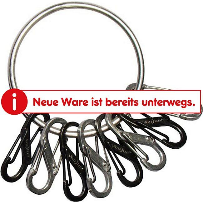 NITE IZE BigRing Schlüssel Ring Bund Anhänger Karabiner Schnapp Haken Organizer - Bild 1