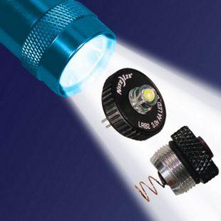 NITE IZE LED Combo Upgrade II Mini Maglite Taschenlampe 30 Lumen Druckschalter - Bild 1