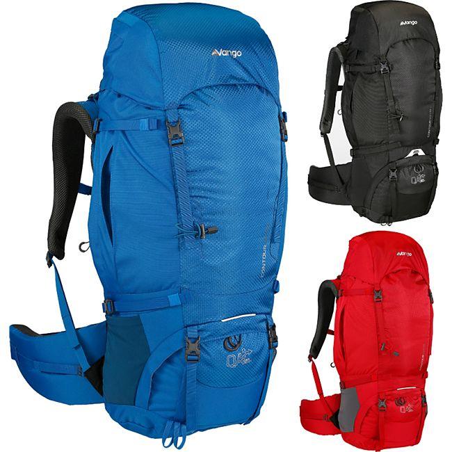 VANGO Outdoor Rucksack Contour 60+10 Liter - Trekkingrucksack höhenverstellbar Farbe: blau - Bild 1