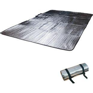 OUTDOOR Alu Isomatte Doppel Alumatte Thermo Isolier Matte 2 Personen Thermomatte - Bild 1