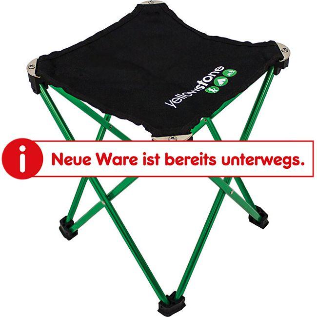 YELLOWSTONE Mini Falthocker Alu Camping Hocker Angeln Sitz leicht klappbar 100kg - Bild 1