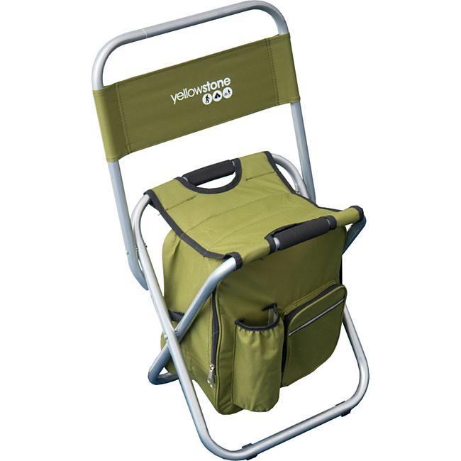 YELLOWSTONE Angelhocker – Camping Klapp Hocker faltbar Angler Stuhl Tasche 100kg - Bild 1