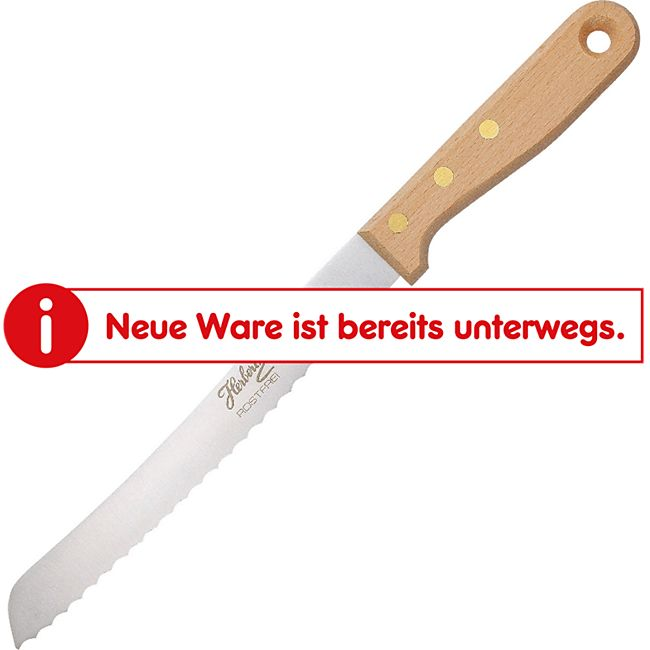 HERBERTZ Brotmesser Wellenschliff Brotsäge Säge Messer Holzgriff Edelstahl 20 cm - Bild 1