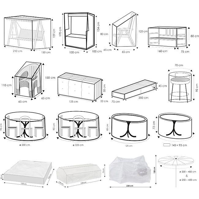 WEHNCKE Gartenmöbel Schutzhülle Hülle Plane Abdeckung Abdeckplane transparent PE Variante: Für 6 Stapel Sessel - Bild 1