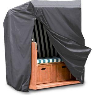 WEHNCKE Strandkorb Schutzhülle XL - Gartenmöbel Hülle Abdeckhaube Abdeckung 420D Größe: Breite 130 cm - Bild 1
