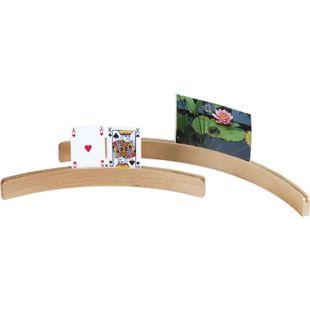 LONGFIELD Kartenhalter 35 cm - gebogen Holz Spielkartenhalter Kartenspiel Halter - Bild 1