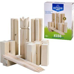 OUTDOOR Wikingerspiel Kubb XL Wurfspiel Rasen Kegelspiel Birke Holz Tasche 21tlg - Bild 1
