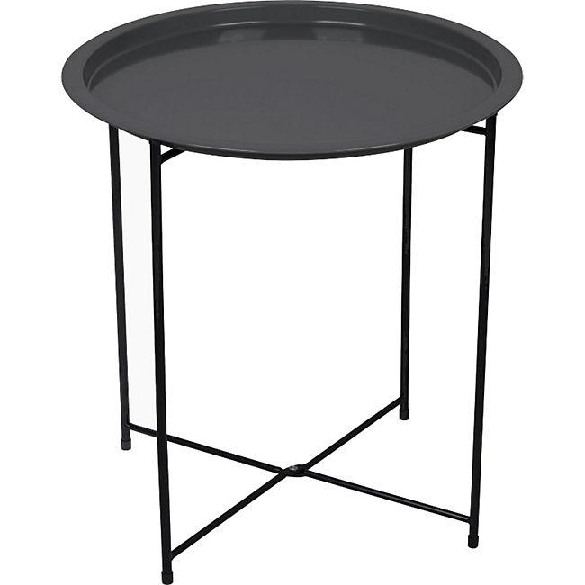 BO-CAMP Garten Beistelltisch Tablett Camping Klapp Tisch Grill BBQ Rund 46x50 cm - Bild 1