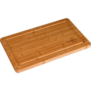 BO-CAMP Schneidebrett Peckham Bambus Platte Holz Küchenbrett Holzbrett 20x32 cm - Bild 1