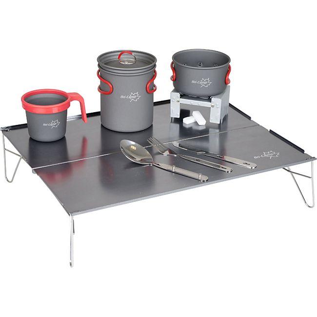 BO-CAMP Mini Alu Falttisch Beistell Klapp Tisch Camping Küche Bivvy Leicht 625 g - Bild 1