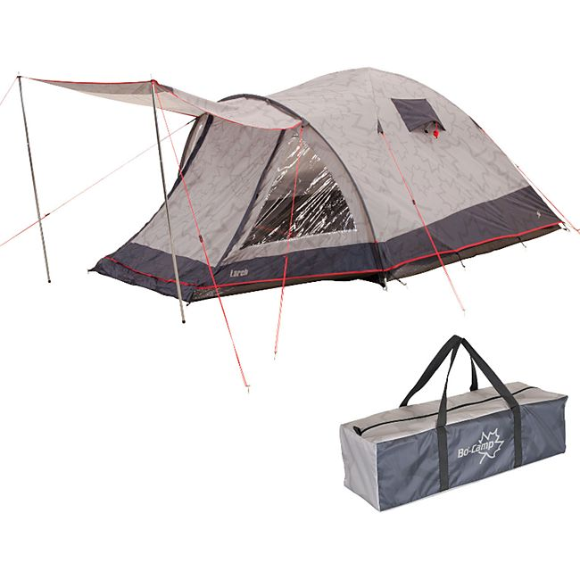 BO-CAMP Kuppelzelt Larch 2-3 Personen Zelt Trekkingzelt Igluzelt Camping Vorraum - Bild 1