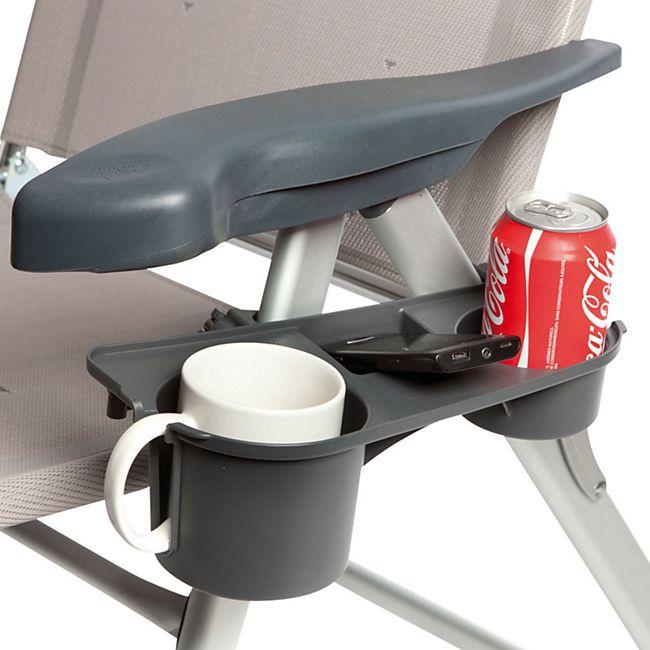 BO-CAMP Getränkehalter für Camping Stuhl Seiten Ablage Seitentisch Klappstuhl - Bild 1