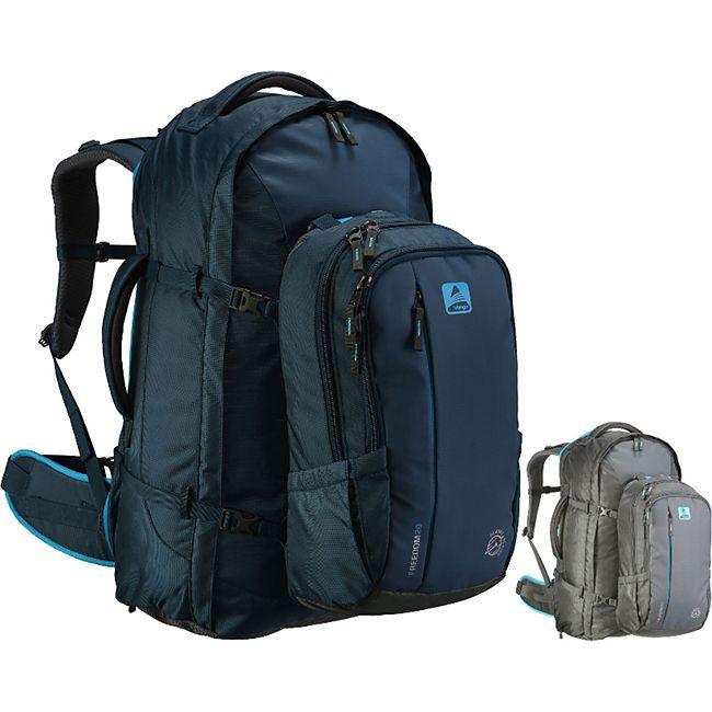 VANGO Freedom II 80+20 Liter Outdoor Reise Rucksack mit Daypack höhenverstellbar Farbe: dunkelblau - Bild 1