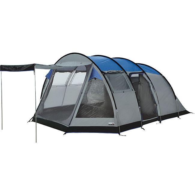 HIGH PEAK Durban 6 groß XL Familienzelt 5-6 Personen Zelt Gruppenzelt Tunnelzelt - Bild 1
