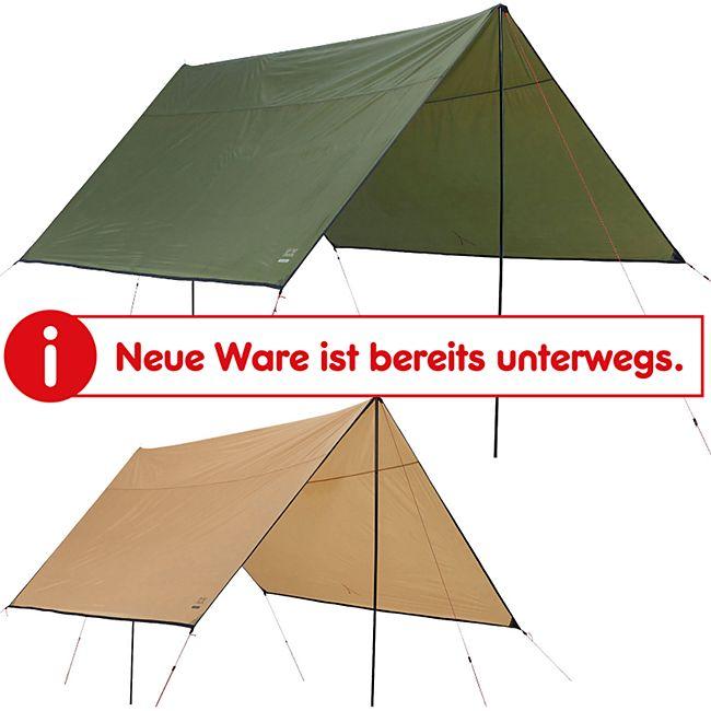 GRAND CANYON Shelter 300/400 Tarp Sonnensegel Camping Vor Zelt Plane UV50 Schutz Farbe: olive, Größe: 300 x 300 - Bild 1