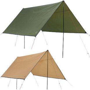 GRAND CANYON Shelter 300/400 Tarp Sonnensegel Camping Vor Zelt Plane UV50 Schutz Farbe: olive, Größe: 400 x 400 - Bild 1