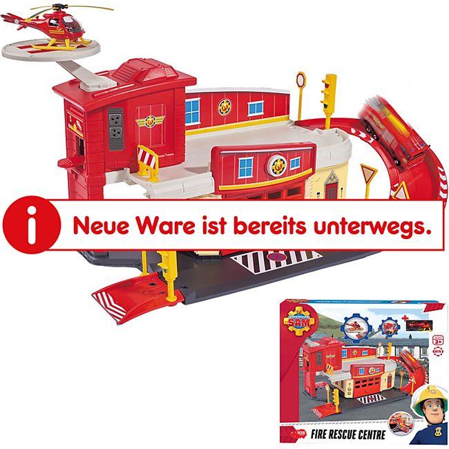 FEUERWEHRMANN SAM Feuerwehr Station Spielzeug Set Feuerwache +Helikopter Wallaby - Bild 1