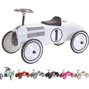 RETRO ROLLER Kinder Laufauto Rutschauto Baby Rutscher Auto Bobby Car Fahrzeug Farbe: Lewis Weiß - Bild 1