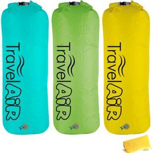 TravelAir Pumpsack XL Dry Bag Roll Pack Sack Beutel Luft Pumpe Matratze Camping Farbe: Grün - Bild 1