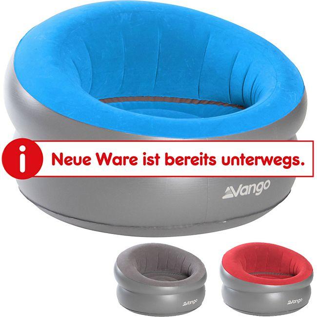 VANGO Luft Sessel Deluxe Camping Couch Garten Stuhl Luft Sofa Lounge Aufblasbar Farbe: Carmine Red - Bild 1