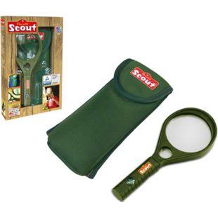 SCOUT Kinderlupe -Kinder Lupe Vergrößerungsglas - Kompass + Neopren Gürteltasche - Bild 1
