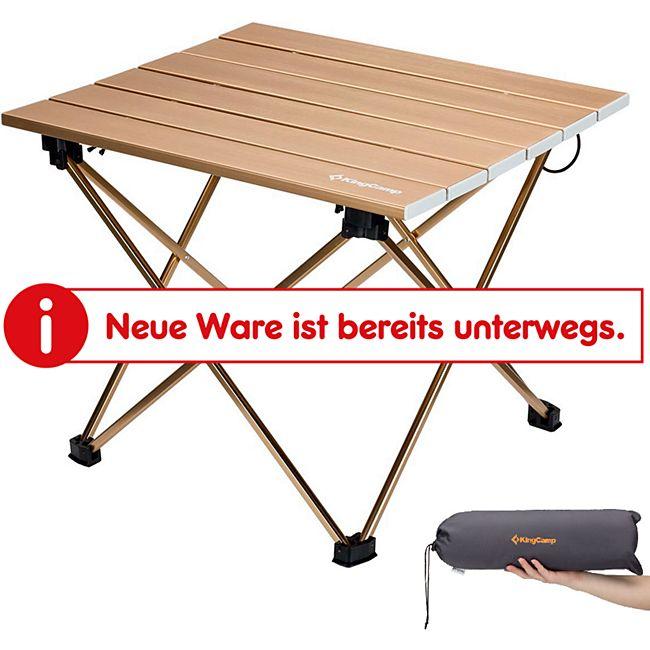 KINGCAMP Mini Alu Rolltisch - Beistell Falt Tisch Camping Klapp Faltbar Leicht - Bild 1