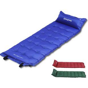 KINGCAMP Isomatte Base Luft Matratze Thermomatte Gäste Bett Selbstaufblasend 5cm Farbe: Rot - Bild 1