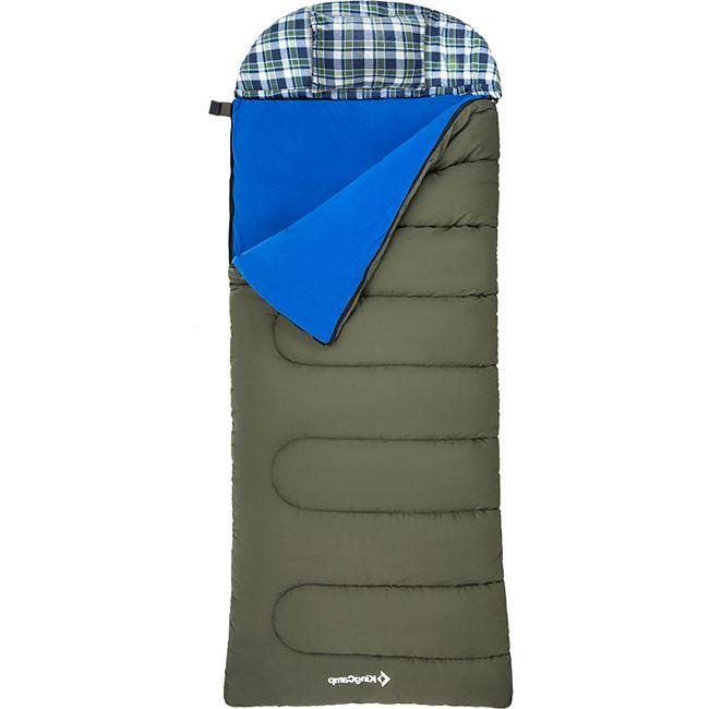 KINGCAMP Decken Schlafsack Forest Winter Camping XL Breit 100% Baumwolle -25°C Variante: 400 g/m² - Zipper L - Bild 1