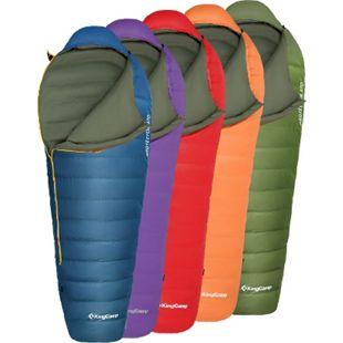 KINGCAMP Mumien Schlafsack Protector 370 3 Jahreszeiten Camping Daunen Lang -10° Farbe: orange - Bild 1