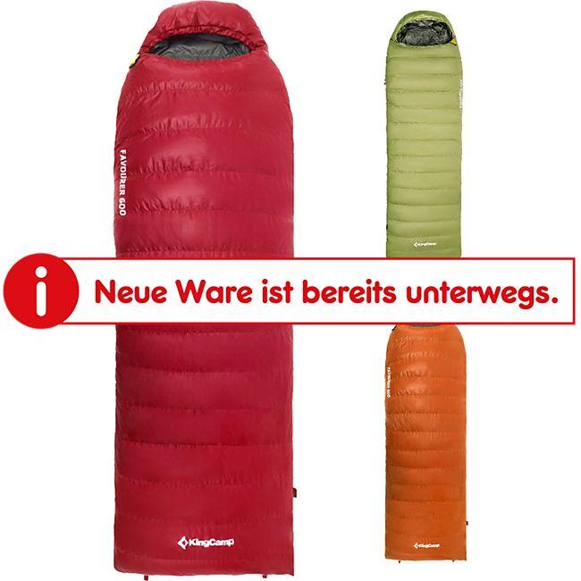 KINGCAMP Favourer 600 Decken Schlafsack 4 Jahreszeiten Camping Lang Daunen -21°C Farbe: Rot - Bild 1