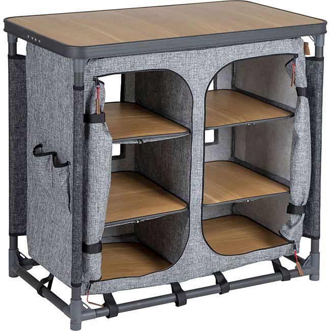 BO-CAMP Camping Küche XL Falt Schrank Stoff Kommode Wohnwagen Tisch Groß Faltbar - Bild 1