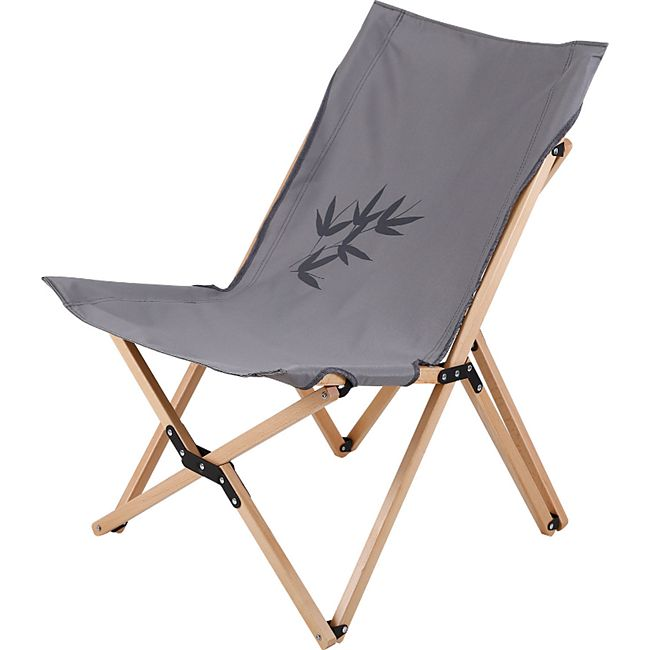 HUMAN COMFORT Camping Falt Sessel Avon L - Klapp Stuhl Garten Lounge Holz 115 kg - Bild 1
