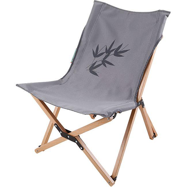 HUMAN COMFORT Camping Falt Sessel Avon S - Klapp Stuhl Garten Lounge Holz 115 kg - Bild 1