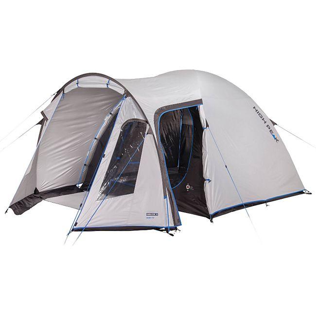HIGH PEAK Kuppelzelt Tessin 5 Personen Camping Iglu Zelt Familienzelt Vorraum - Bild 1