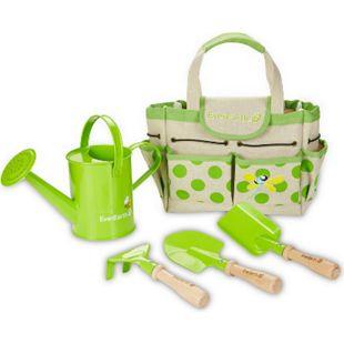 EVEREARTH Kinder Garten Geräte Tasche Spielzeug Werkzeug Set Schaufel FSC Holz - Bild 1