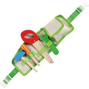 EVEREARTH Kinder Spiel Werkzeug Gürtel Set Spielzeug Hammer Säge 9-tlg FSC Holz - Bild 1